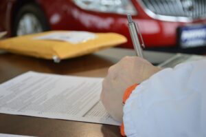 business contract person signing