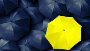 different coloured umbrella